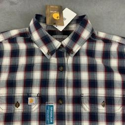 Carhartt Men's Large Flannel Shirt Plaid Button Relaxed Fit