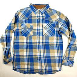 men s large plaid flannel button up