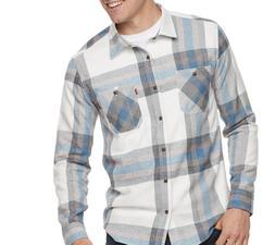 Men's Levi's Abbotts Flannel Button-Down Shirt Color: Marshm