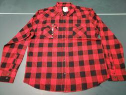 Men's Levi's Long Sleeve Black/Red Flannel Shirt 2XL, 3XLT,