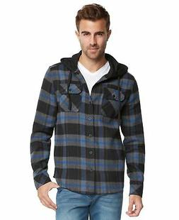 9 Crowns Men's Lightweight Plaid Flannel Shirt