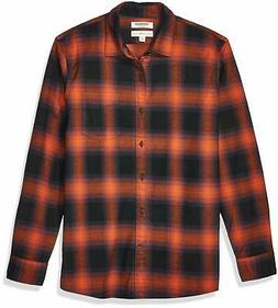 men s long sleeve brushed flannel shirt