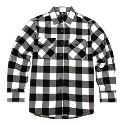 men s long sleeve flannel plaid button