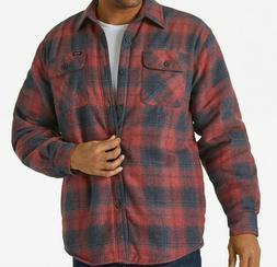 Wrangler Men's Long Sleeve Plaid Flannel Heavyweight Shirt 2