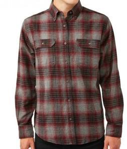 George Men's Long Sleeve Super Soft Flannel Shirt XS  Burgun