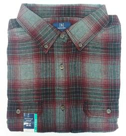 George Men's Long Sleeve Super Soft Flannel Shirt XL  Gray &