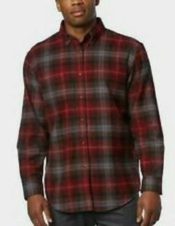 Pendleton Men's Long-Sleeve Woven Flannel Shirt 100% cotton.