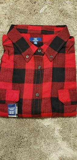 Men's Longsleeve Flannel Plad Shirts by George in 2XL,3XL, 2