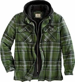 men s maplewood hooded flannel shirt jacket