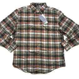Pendleton Men's Mason Flannel Shirt, Green/Copper Plaid, Lar