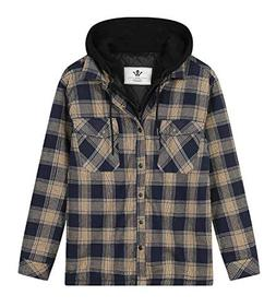 WenVen Men's Men's Flannel Plaid Checkerd Long Sleeve Tshirt