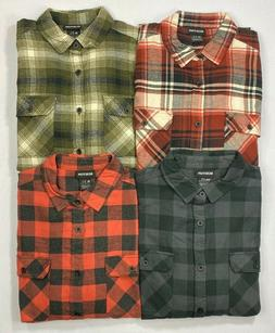 Men's Burton Organic Cotton Button-Front Long Sleeve Flannel