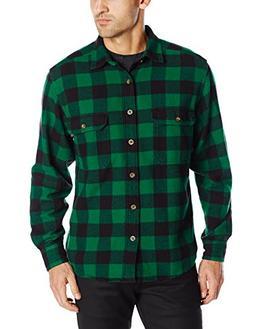 Woolrich Men's Oxbow Bend Flannel Shirt, Forest Green Buffal