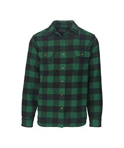 Woolrich Men's Oxbow Bend Flannel Shirt Modern Fit, Forest,