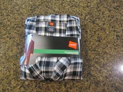Hanes ~ Men's Pajama Shirt & Pant Set Flannel Black White Pl