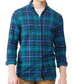 CHAPS MEN'S PERFORMANCE FLANNEL SHIRTS  100% COTTON GREEN PL