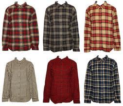 Woolrich Men's Plaid Flannel Button-Down Shirt 100% Cotton S