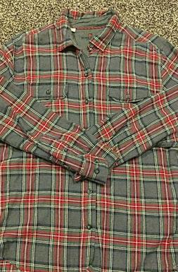 WOOLRICH Men's Plaid Flannel Long Sleeve Shirt Large SHIPS F
