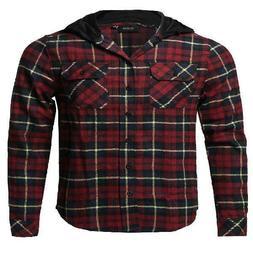 FashionOutfit Men's Plaid Flannel Long Sleeves Button Closur