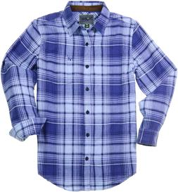 Bone Collector Men's Plaid Flannel Shirt - Long Sleeve Casua