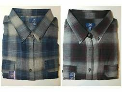 George Men's Plaid Flannel Shirt Super Soft Reinforced Seams
