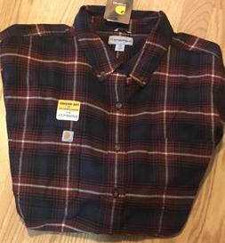 Carhartt Men's plaid long sleeve button down work shirt 4XL