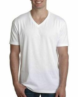 Next Level Men's Premium CVC V-Neck Soft Tee Solid Shirt S-2