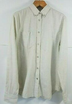 Men's rag & bone, Cotton-Flannel Beach Shirt. Size M - Slim