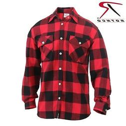 Men's Red/Black Lightweight Flannel Shirt - Rothco Lightweig