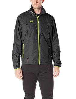 Helly Hansen Men's Regulate Midlayer Jacket, Black/Lime, Lar