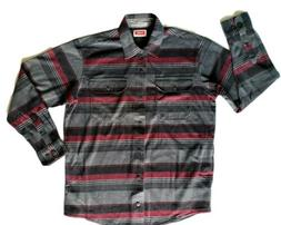 Wrangler Men's Relaxed Fit Breathe-Dri Flannel Shirt. Size M