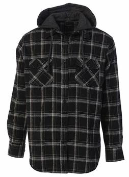 Gioberti Men's Removable Hoodie Plaid Checkered Flannel Butt
