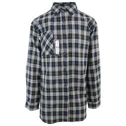 Carhartt Men's S08 Black White Plaid L/S Flannel Shirt 2XL