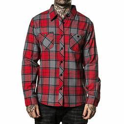 Sullen Men's San Clemente Flannel Buttondown Long Sleeve Shi