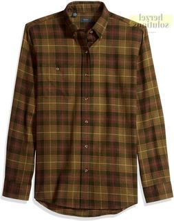 Arrow 1851 Men'S Saranac Flannels Long Sleeve Button Down Sh