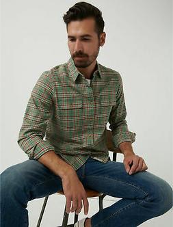 Lucky Brand Men's Saturday Stretch Lightweight Flannel