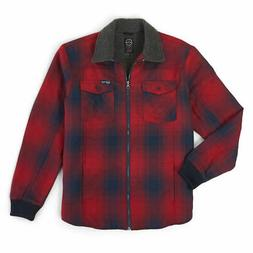 Wrangler Men's Sherpa Lined Flannel Shirt Jacket
