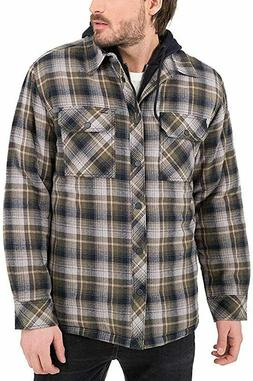 Boston Traders Men's Shirt Jacket, Ivy Green XL, worm clothi