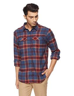 Columbia Men's Silver Ridge Flannel Long Sleeve Shirt, Dark