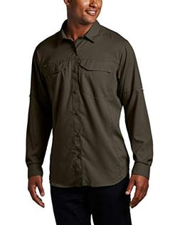 Columbia Men's Silver Ridge Lite Long Sleeve Shirt, Peat Mos