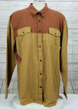 Foundry Men's Size 4XL Big Tall Button Long Sleeve Flannel S