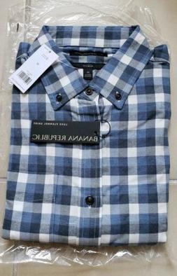 Banana Republic Men's Slim Fit Premium Lux Flannel Shirt. Sz