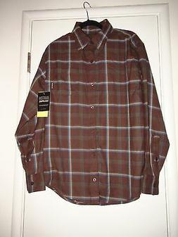 MEN'S BURTON SNOWBOARD DRY RIDE HAVOC TECH PLAID FLANNEL SHI
