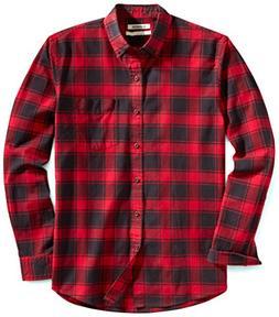 Goodthreads Men's Standard-Fit Buffalo Plaid Oxford Shirt, R