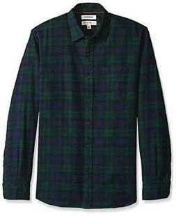 Goodthreads Men's Standard-Fit Long-Sleeve Brushed Flannel,