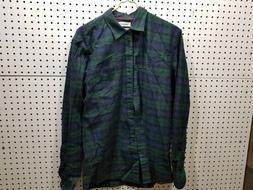Goodthreads Men's Standard Long-Sleeve Flannel Shirt, Navy/G