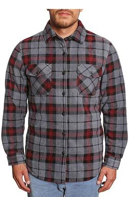 Freedom Foundry Men's Super Plush Sherpa Fleece Flannel Shir