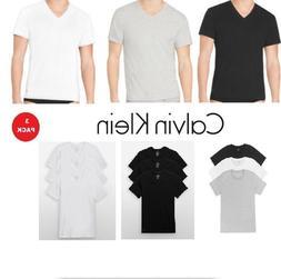 Calvin Klein Men's T Shirts 3 Pack 100% Cotton V-Neck Crew N