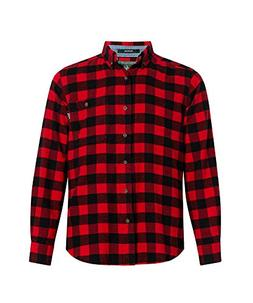 Woolrich Men's Trout Run Flannel Shirt, Old Red Buffalo, Med