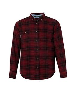 Woolrich Men's Trout Run Flannel Shirt, Red Hunt Plaid, Larg
